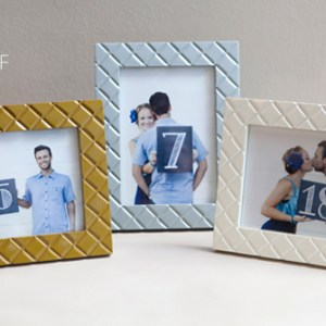 DIY chalkboard table number picture frames