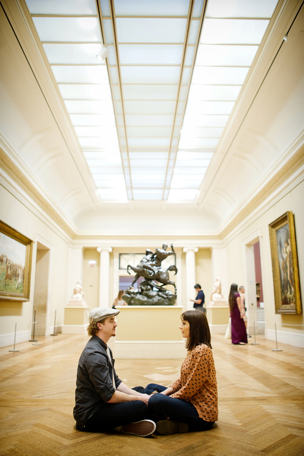 museum engagement session