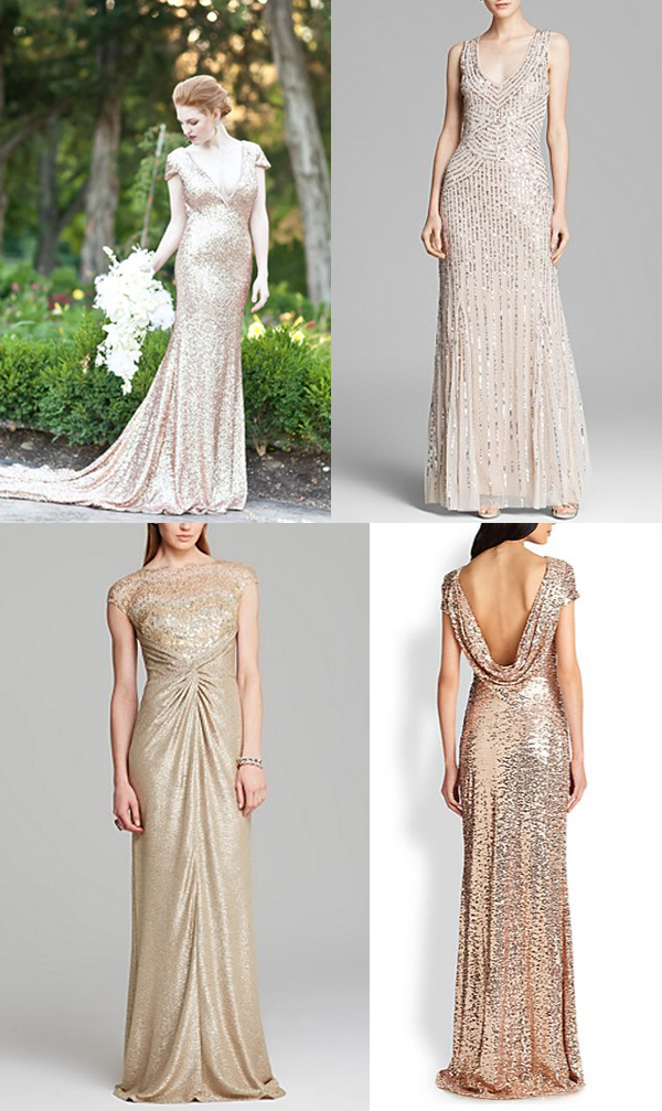 Check out these gorgeous sequin wedding dresses for Sequined wedding dress