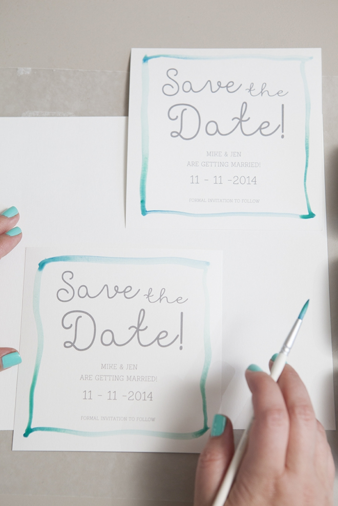 How to watercolor your Save the Date!