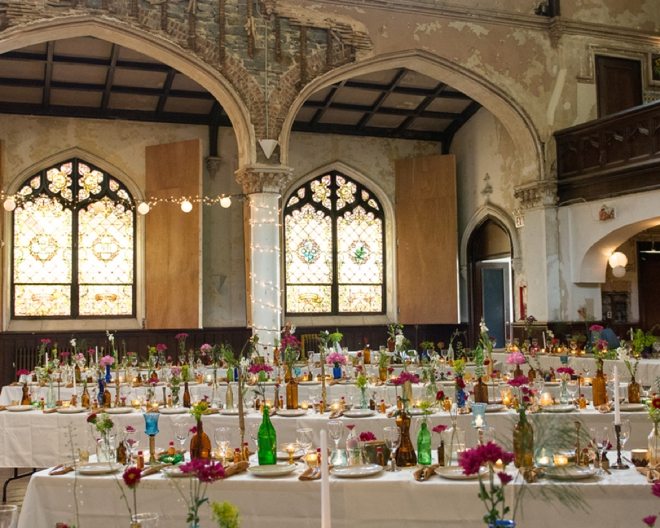 Amazing DIY boho wedding reception at 2640 Space