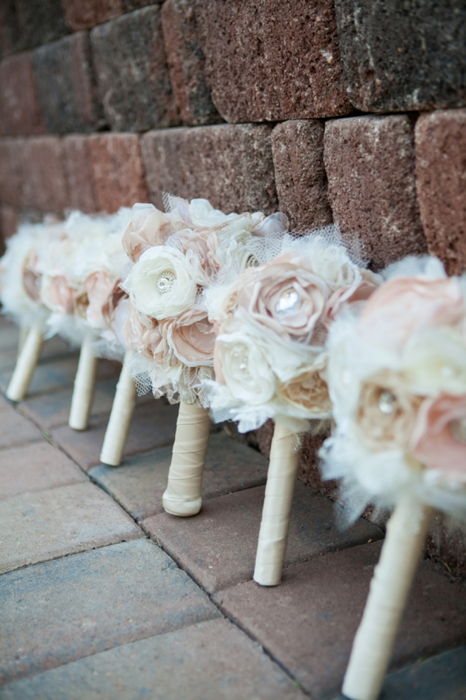 Beautiful paper and ribbon wedding bouquet...