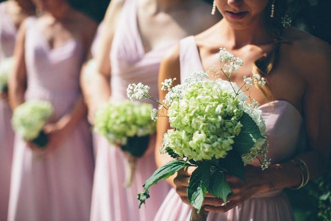 Handmade bridesmaid bouquets