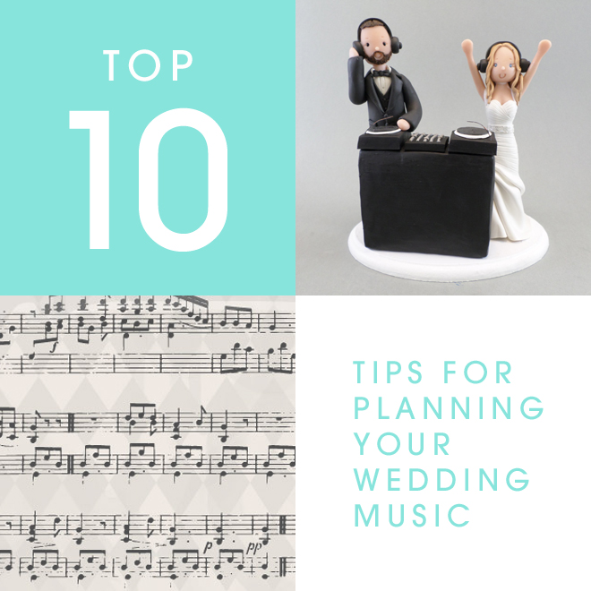Top 10 tips for planning your wedding music!