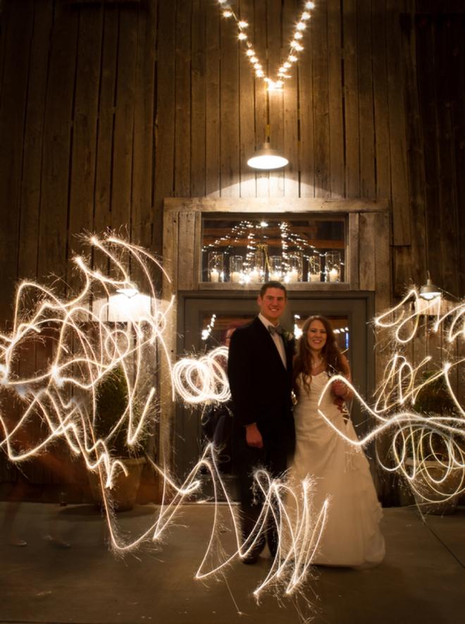 Wedding sparkler picture