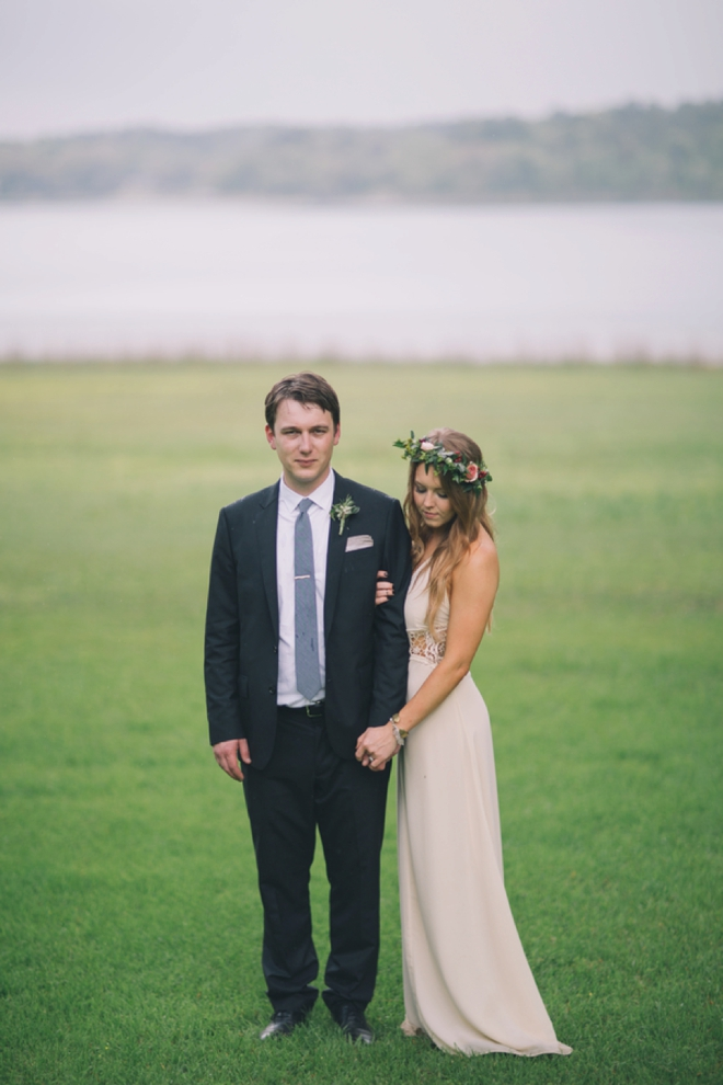 Gorgeous boho bride and groom