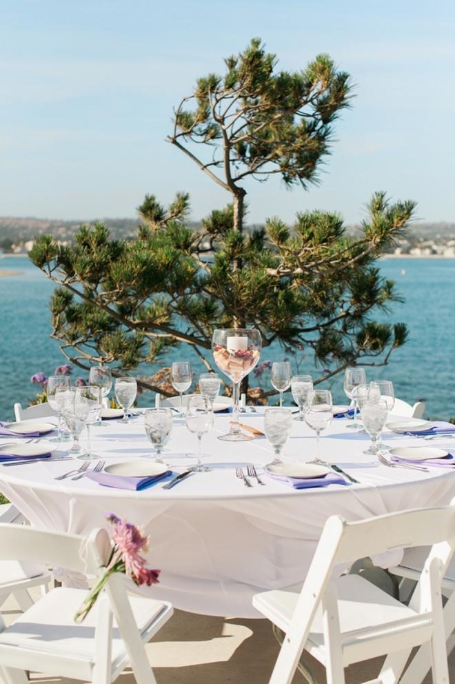 beach and wine themed wedding