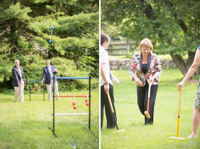 Wedding lawn games