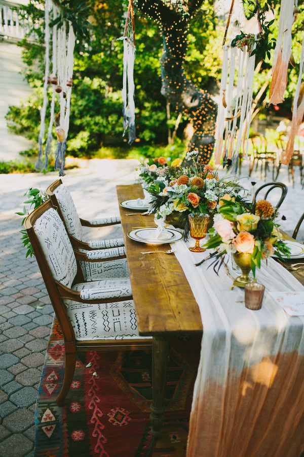 Indian Summer inspired tablescape