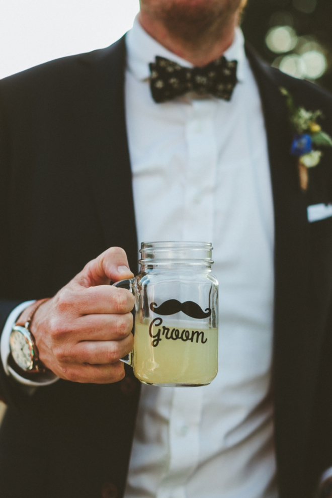 Groom mason jar