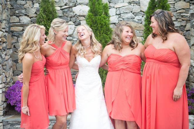 Fall bridesmaids and bride