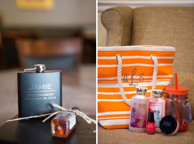 Bridesmaid and groomsmen gifts