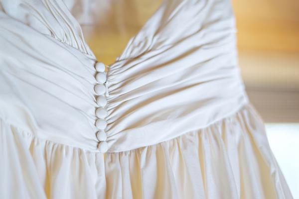 Back of brides dress