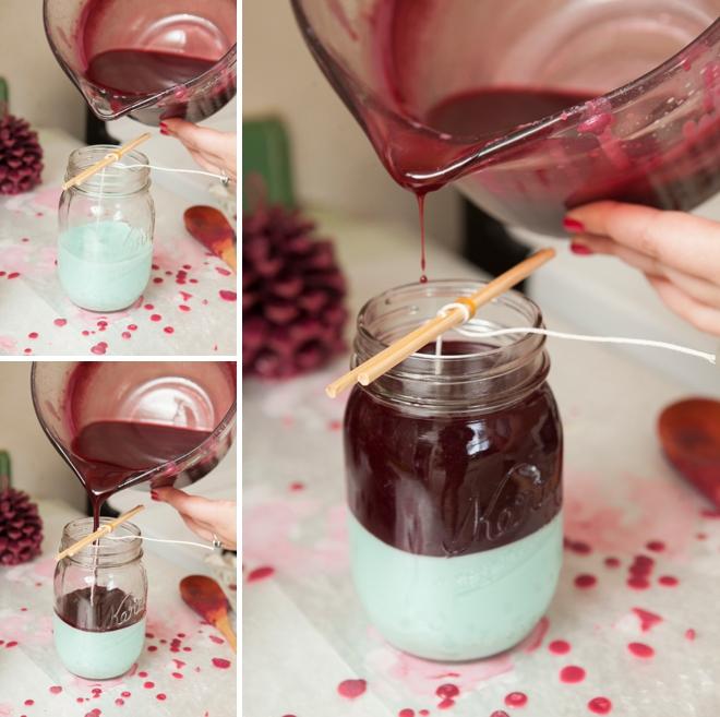 DIY - How to make a mason jar candle!