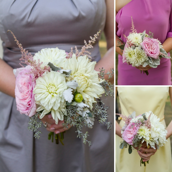 Beautiful colorful wedding bouquets