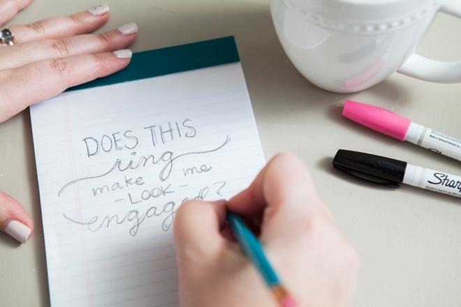 DIY Sharpie Paint Pen - Engagement Gift Mug