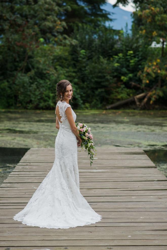 Gorgeous lace bridal gown
