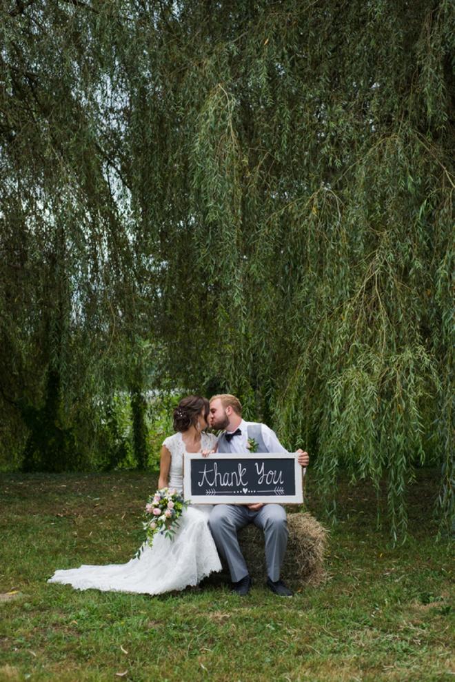 Thank You. Wedding sign.