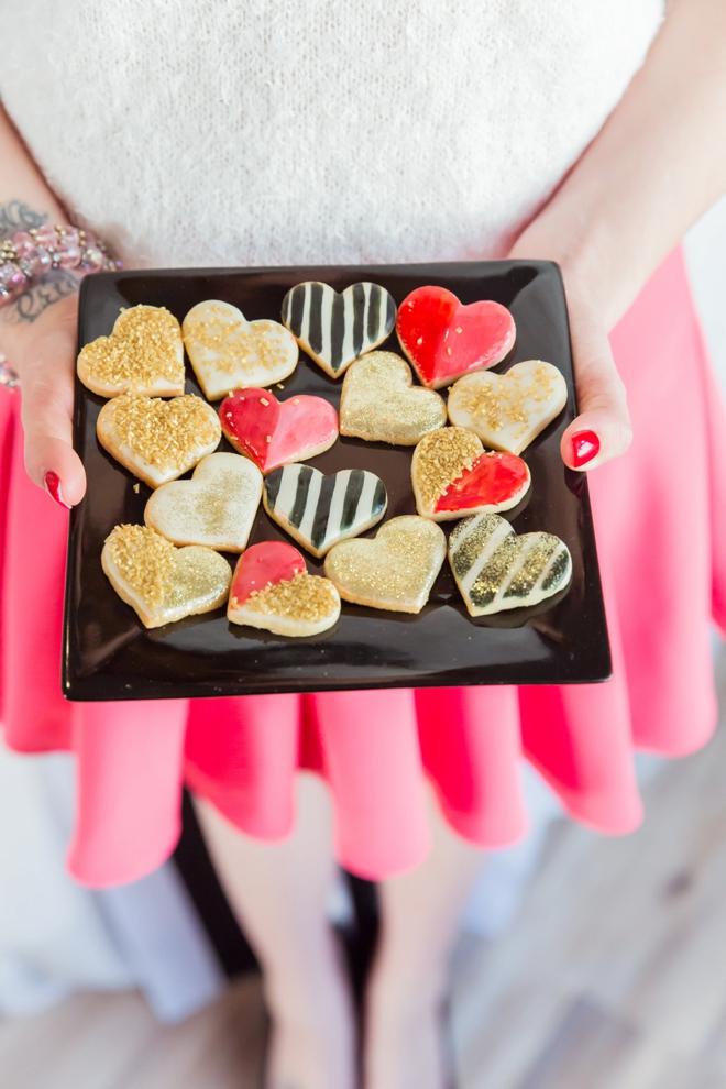 Darling little heart cookies
