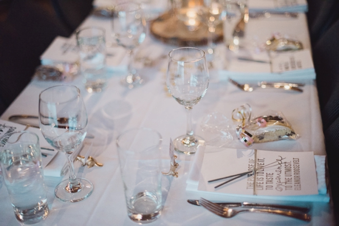 Gold wedding tablescape
