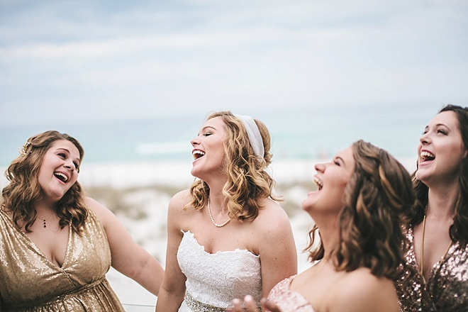 Gorgeous DIY beach wedding with sequin details