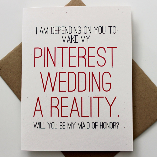Pinterest Wedding Card from Patterson Paper