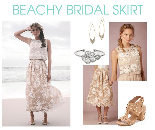 Bridal Skirt for Beach Wedding