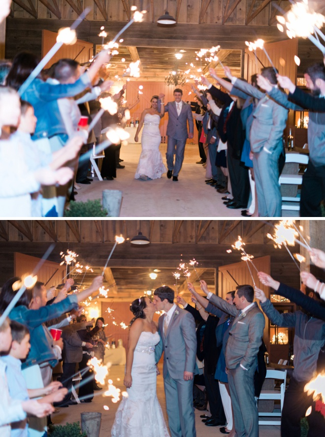 Awesome sparkler exit!