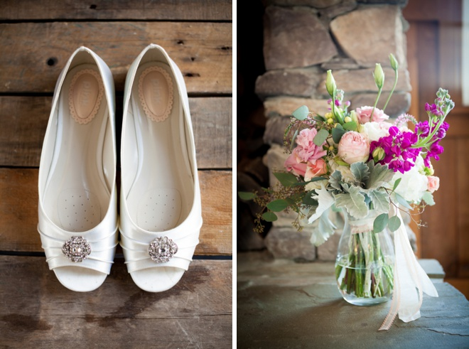 Shoes + bouquet!