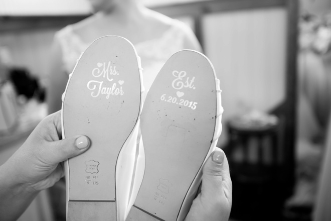 Adorable Wedding Shoe stickers!