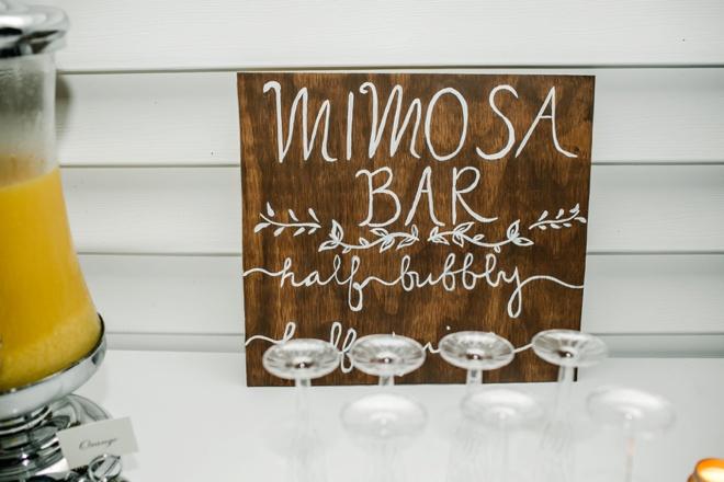 Mimosa Bar at your wedding