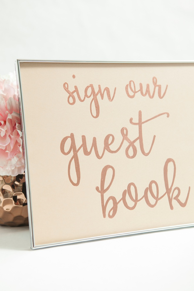 How to make a Sign Our Guest Book wedding sign.