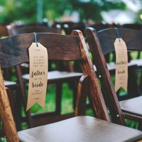 DIY | Wedding Ceremony Chair Reserved Signs