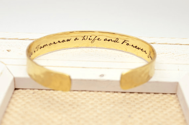 Adorable Mother of the Bride Cuff Bracelet