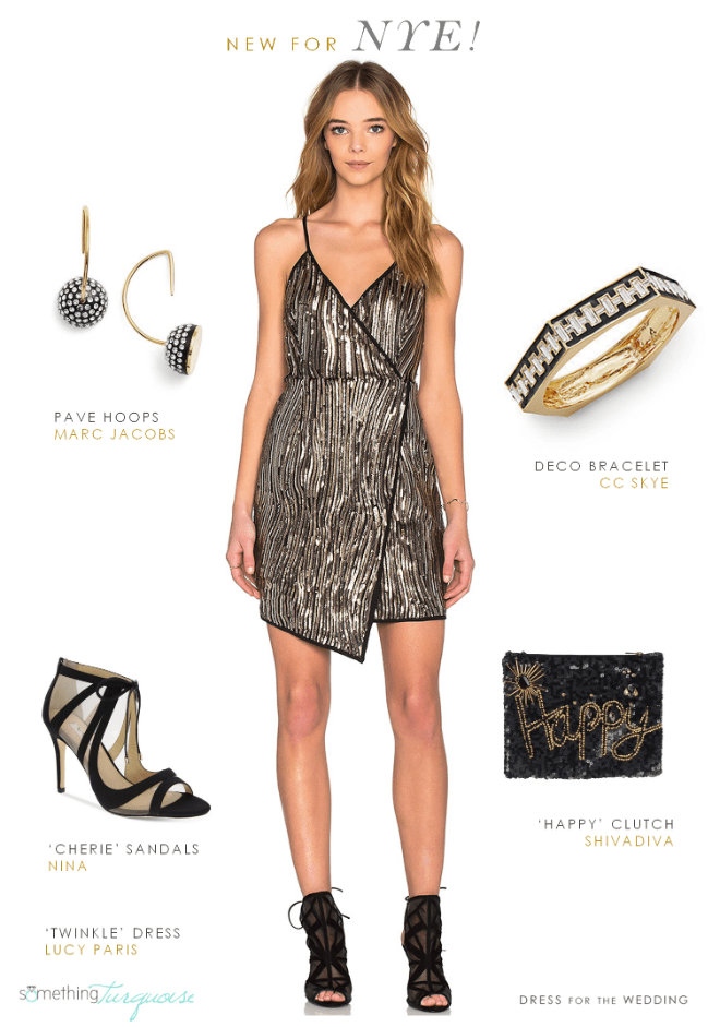 Sequin New Year's Eve Look | As seen on Something Turquoise from Dress for the Wedding