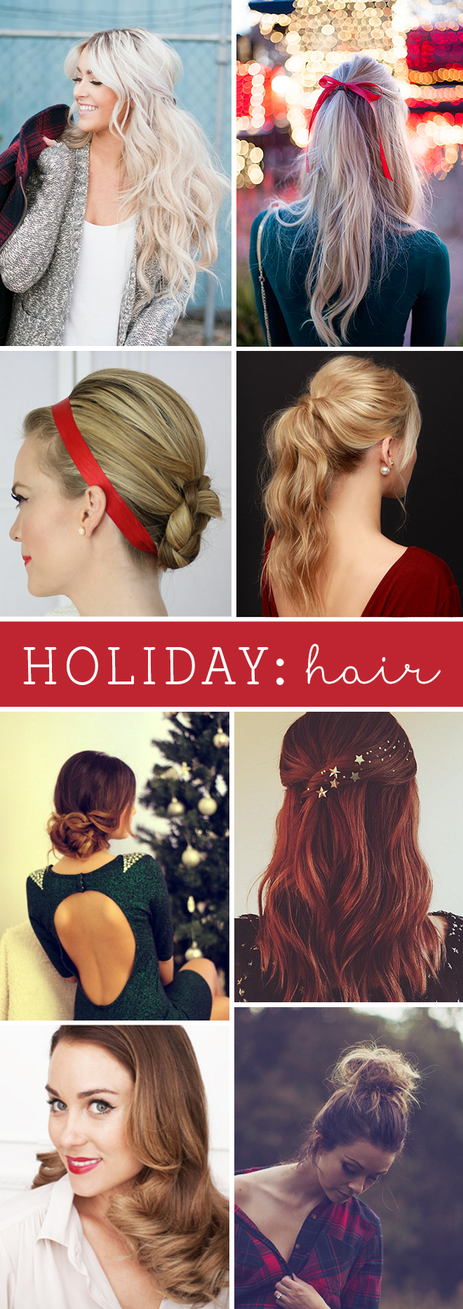 Awesome ideas and tips for holiday hair styles!