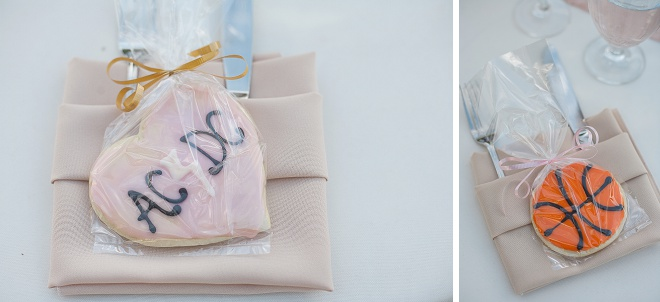 We're loving these cookie favors at this DIY wedding!