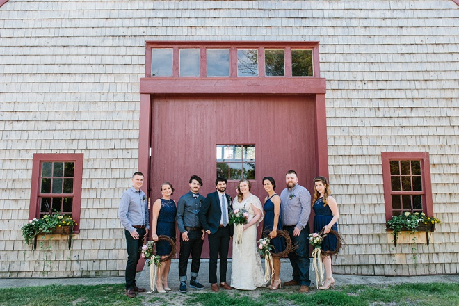 Loving this darling Bridal party at this boho vintage wedding!