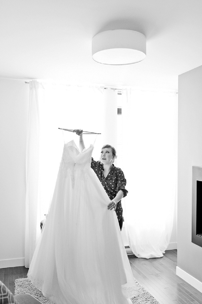 Loving this peek before the Bride get's into her dress!
