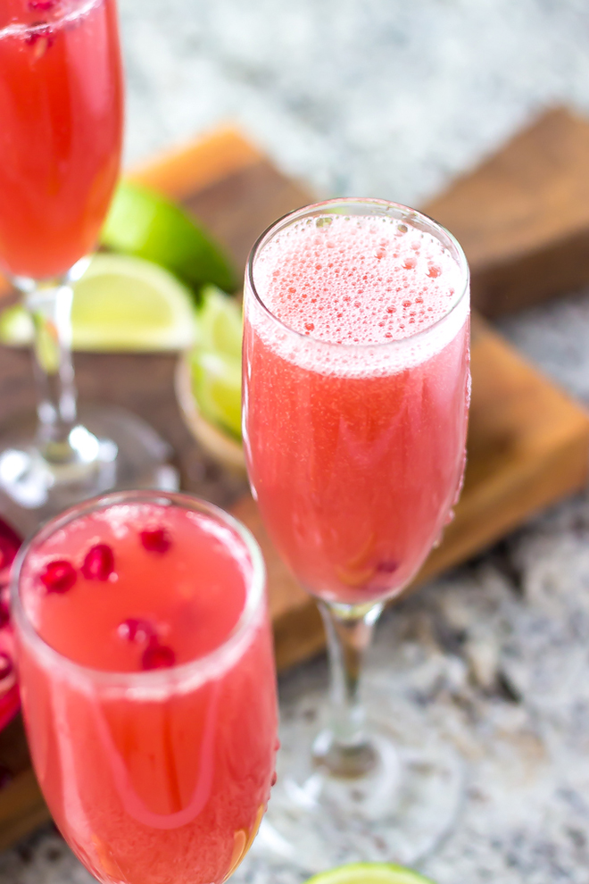Awesome Mexican Pomegranate Mimosa Recipe