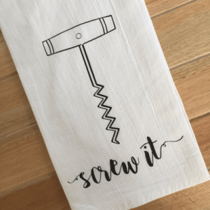 We're loving this super cute wine tea towel!