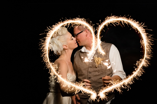 Gorgeous sparkler heart shot by DeAnda Photography!