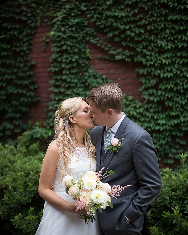 Crushing over this darling Mr. and Mrs. and their handmade wedding!