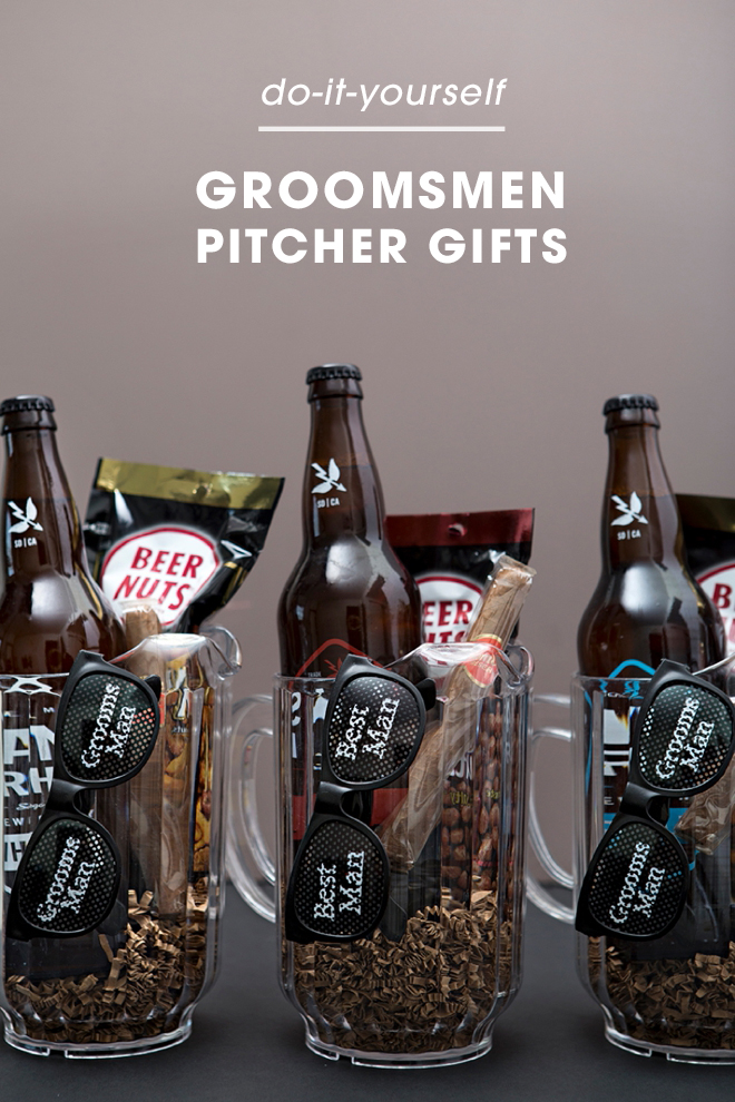 Check out these awesome Groomsmen beer pitcher gifts!
