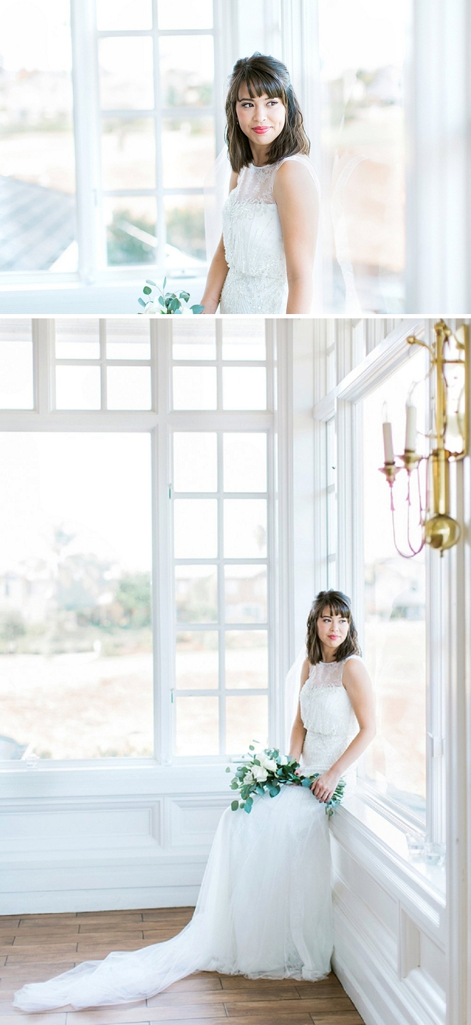 We LOVE these sweet snaps of this stunning Bride before the ceremony!
