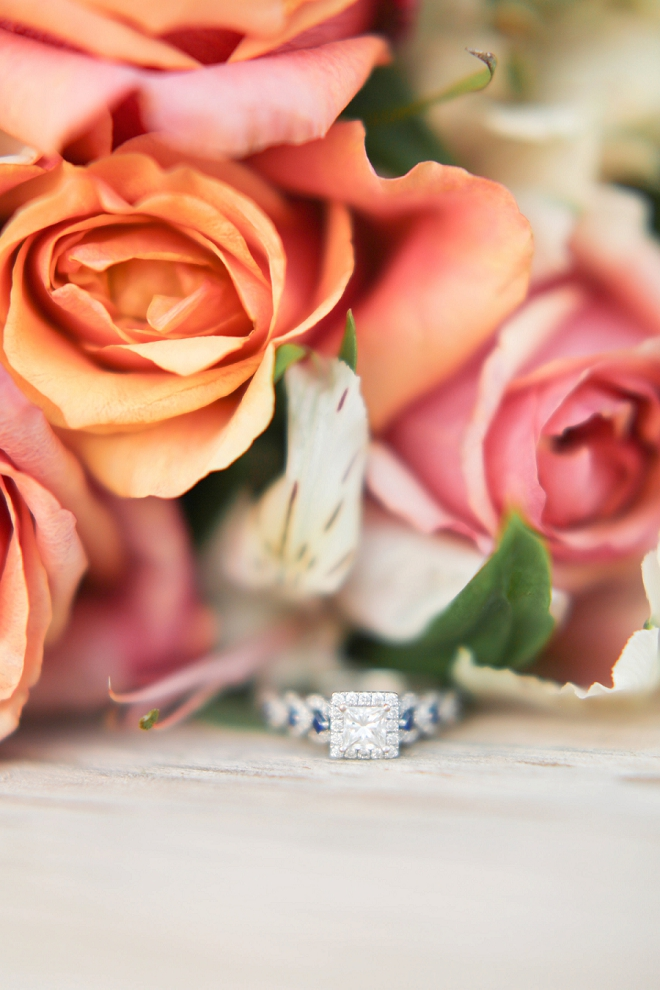 Loving this gorgeous ring shot and this Spring wedding!