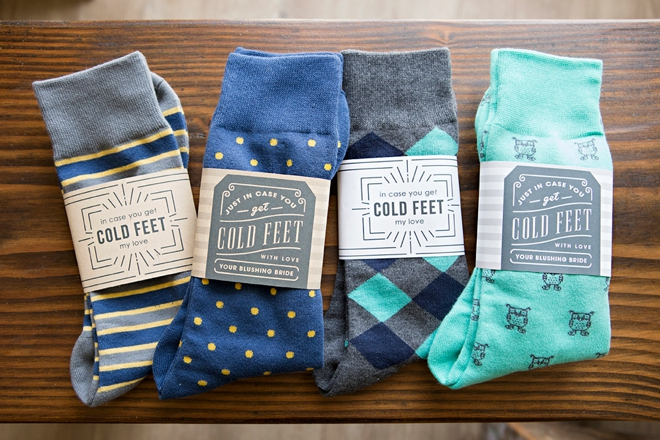 Print these awesome in case you get cold feet sock labels for free!