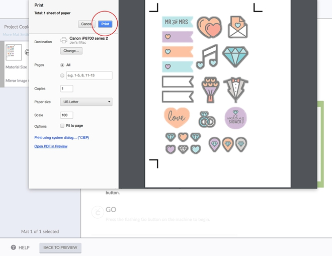How to upload and use a Cricut print and cut file!
