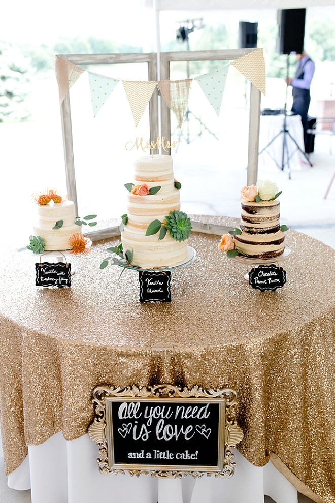Check out this couple's amazing dessert table! So stunning!