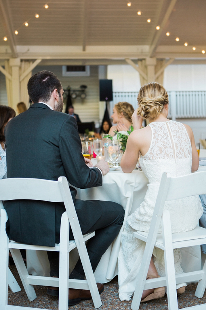 Sweet snap of the Bride and Groom at their reception!